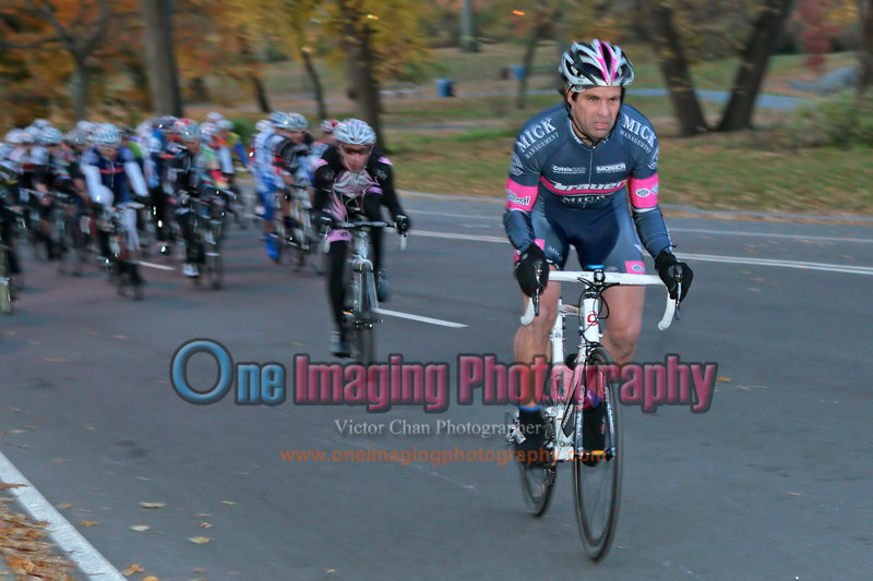 It is was a cold morning and the pace was brisk. lap 1.