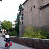 RIDING INTO GRANADA LOOKING FOR OUR HOTEL NEAR THE ALCARZAR.