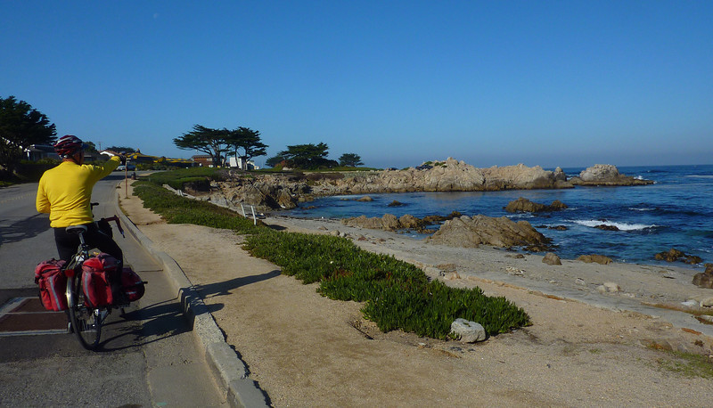 STARTING OUT ON 17 MILE DRIVE WHICH EVENTUALLY BROUGHT US OUT AT THE CARMEL MISSION AND HWY 1