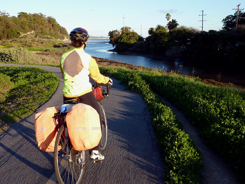 TAKING THE BIKE PATH FROM THE AIRPORT AREA TO TOWN