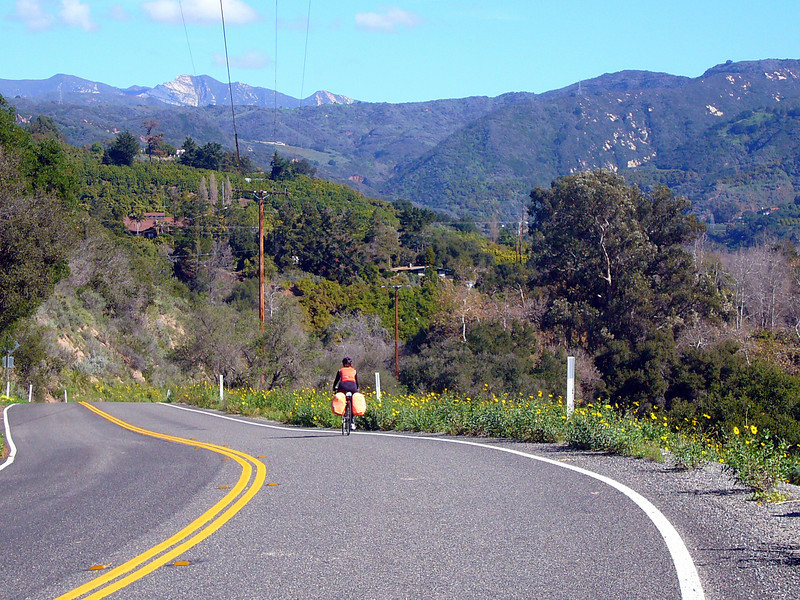 ON THE ROAD TOWARDS LAKE CASITAS