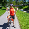ON ONE OF THE ZILLION SALZBURG BIKE PATHS.  WE WERE ON OUR WAY TO MEET INGRID AT THE TRAIN STATION