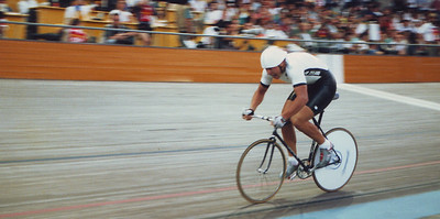 One lap to go - the worst lap of the Kilometre Time Trial, and some say the hardest of all cycling events on the Velodrome.