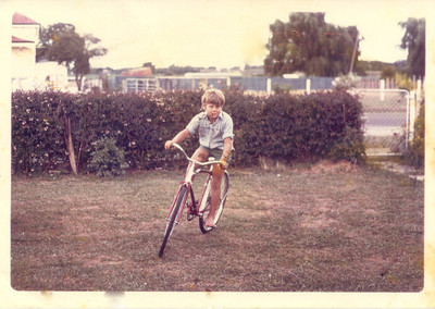 Getting in some more pre Olympic Games Training  in Gisborne early 1970s - only 16 years to my ride in Seoul in 1988!