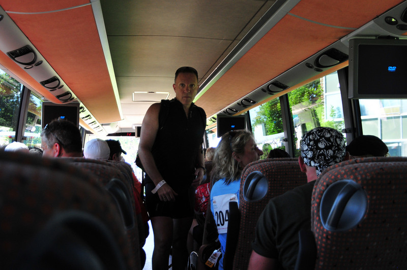 Boarding a Posh Bus for the Hotels