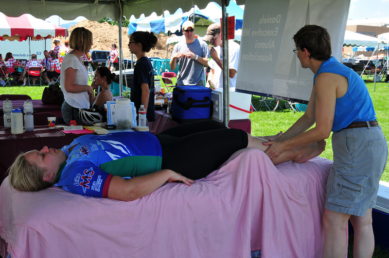 A favorite feature of the team tent village
