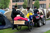 Day 0<br /> <br /> Luggage delivery in the paid-for tent city