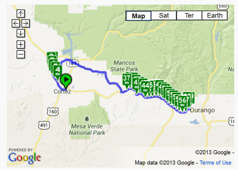 Cortez to Durango