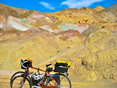 Taking a break at Artist's Palette, Death Valley, CA. Second Place Winner, Kelli Green