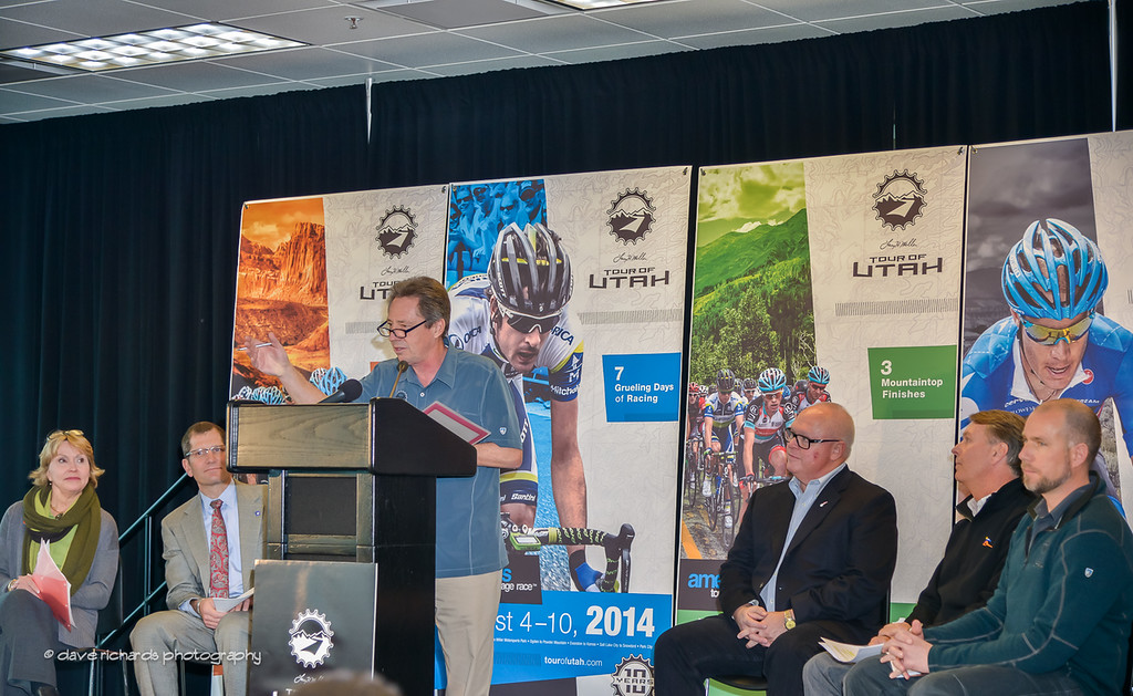 Steve Brown, local sportscaster makes 2014 Tour of Utah announcment