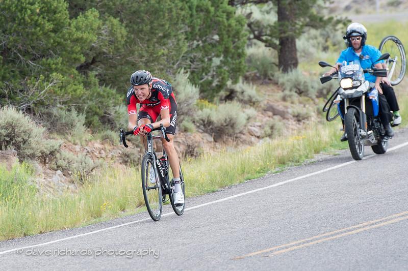 Swiss Michael Schar on the descent from Boulder Mtn.