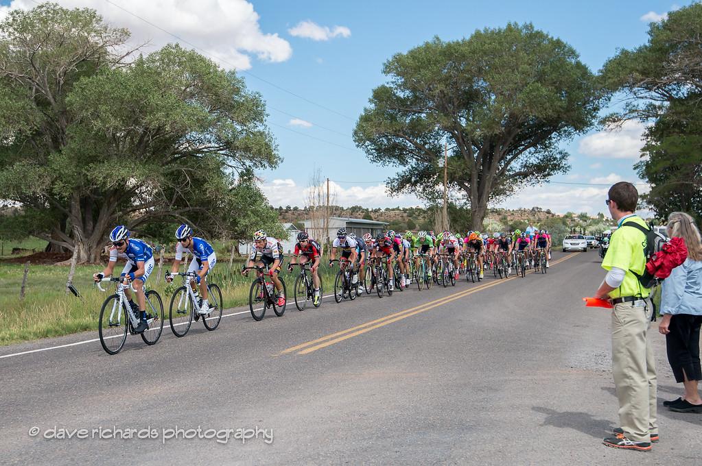 the peloton rolls into Torrey