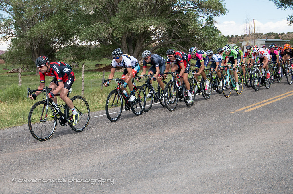 Cadel Evans at the head of the train