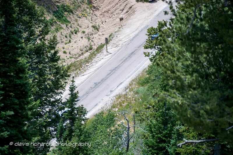 a peek at the final climb to Powder Mtn.