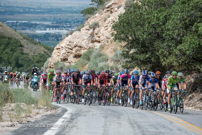 the peloton on N. Ogden Pass