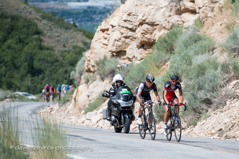 As always, veteran ace Jens Voigt attacks on the 1st time up North Ogden Pass