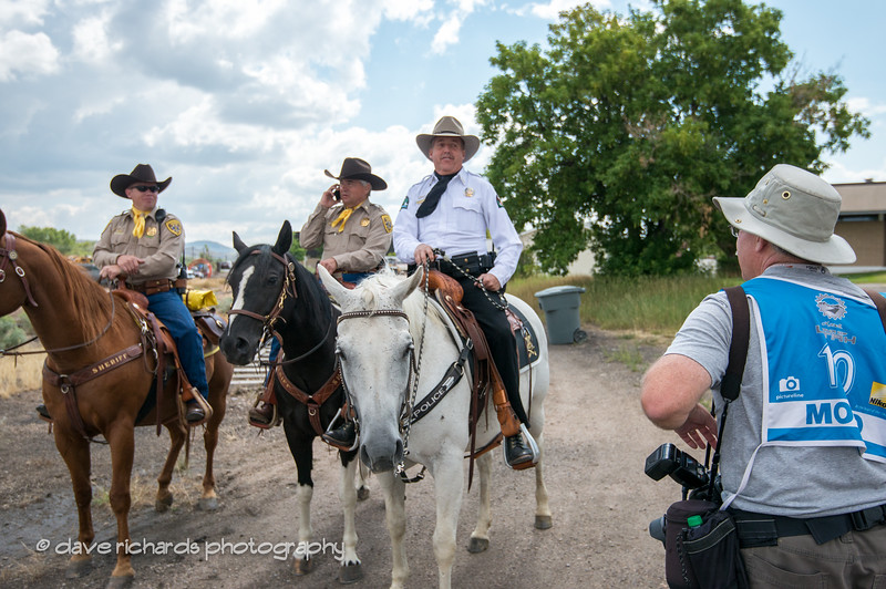 """Photog Casey Gibson contemplates making a run for it from the """"horse police"""""""