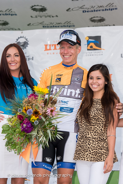 Local Salt Lake racer, Jeff Louder (UHC) wins the most aggressive rider jersey for the stage