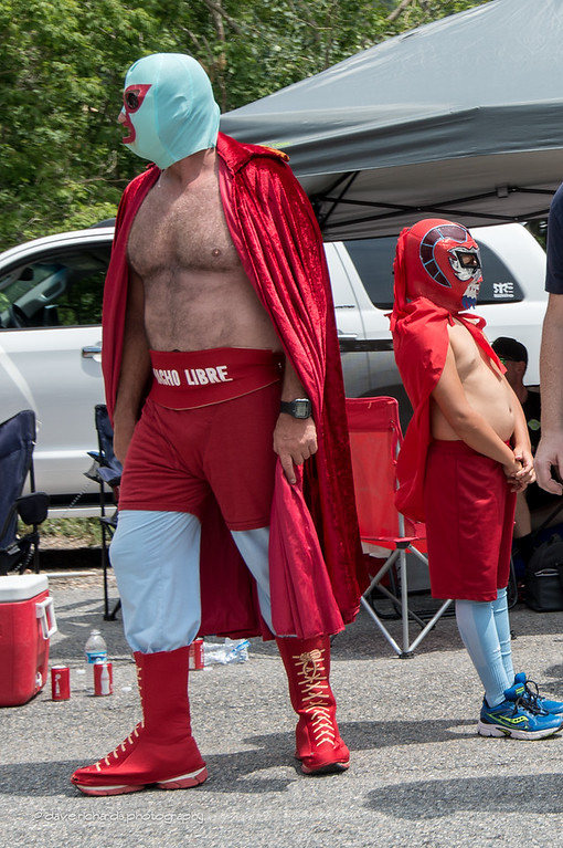 Nacho Libre took a wrong turn, this is a cycling race not a wrestling match