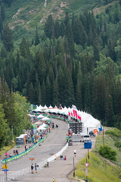view of the finishing stretch into Snowbird Ski resort