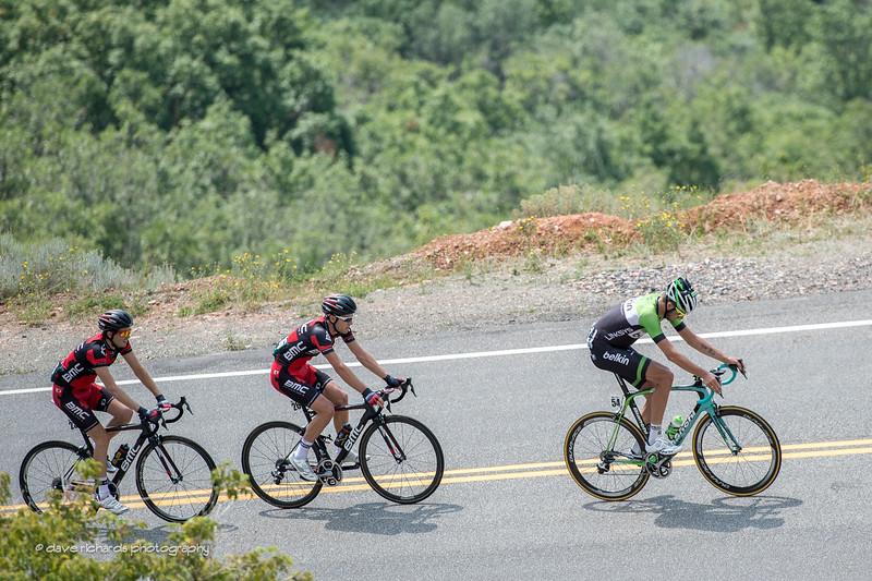 chasing Jens up Big Mountain