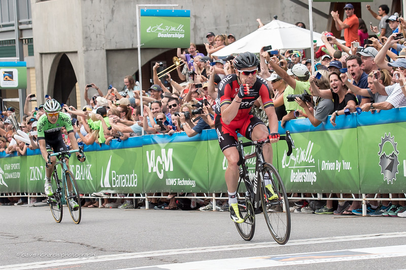 Cadel Evans outsprints Wilco Kelderman for the stage 7 win @ Park City
