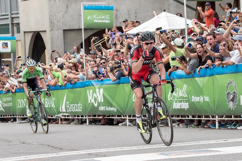 Cadel Evans outsprints Wilco Kelderman for the stage 7 win @ Park City