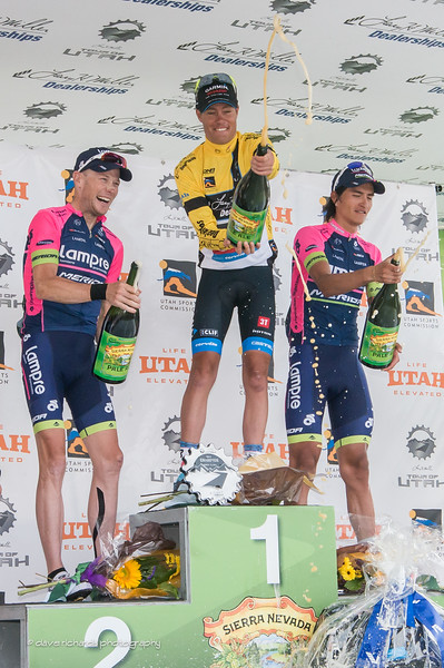 ToU sponsor Sierra Nevada provided pale ale instead of champagne for the victory celebration