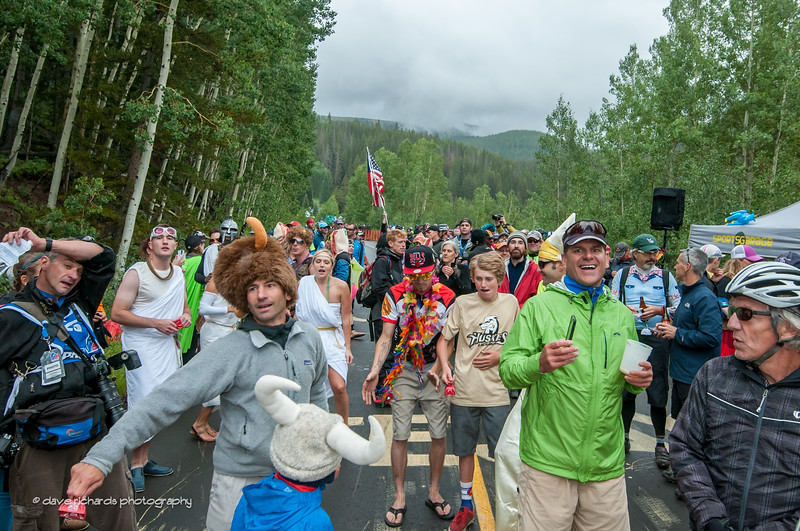 The fans went crazy on the Vail time trial climb,Stage 6, 2014 USA Pro Challenge