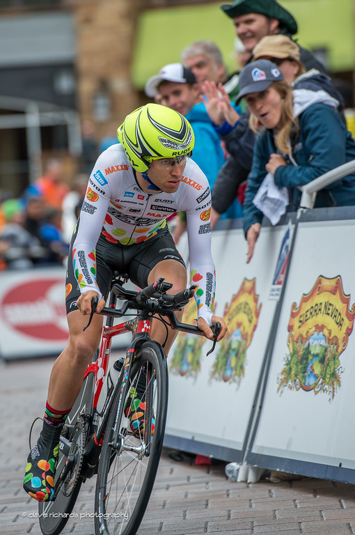 Jelly Belly rider total focus in the Vail Time Trial, Stage 6, 2014 USA Pro Challenge