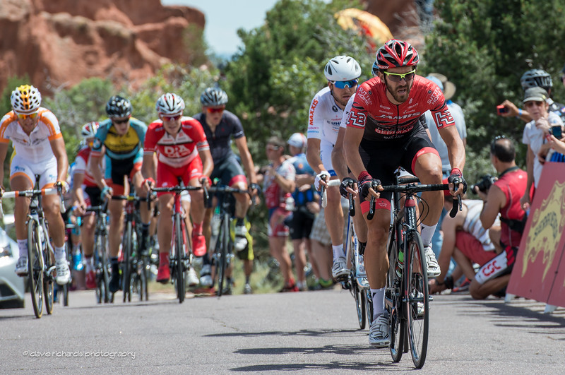 Ben Jacques Mayne captures the KOM in the Garden of the Gods, Stage 4 , 2014 USA Pro Challenge