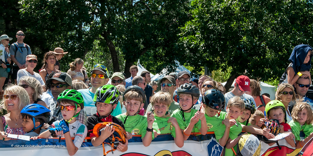 the next generation await riders in Autograph Alley, Stage 7, 2014 USA Pro Challenge