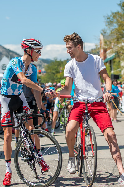 Taylor Phinney shows up on a new ride & ready to race in boulder, Stage 7, 2014 USA Pro Challenge