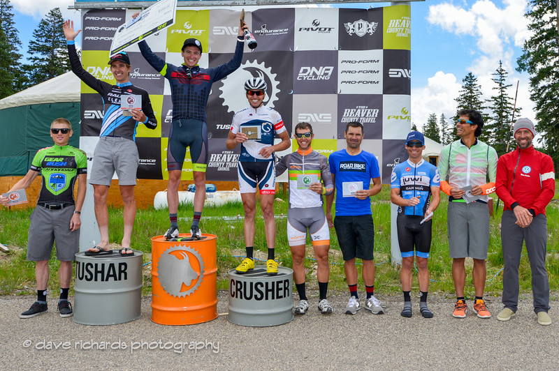 Pro Men's podium - 1) Robert Squire 2) James Driscoll 3) Leroy Popowski 4) Alex Grant 5) Jake Wells 6) Neil Shirley 7) Danny Pate (not shown) 8) Ben Blaugrund 9) Andy Dorais 10) Tim Johnson