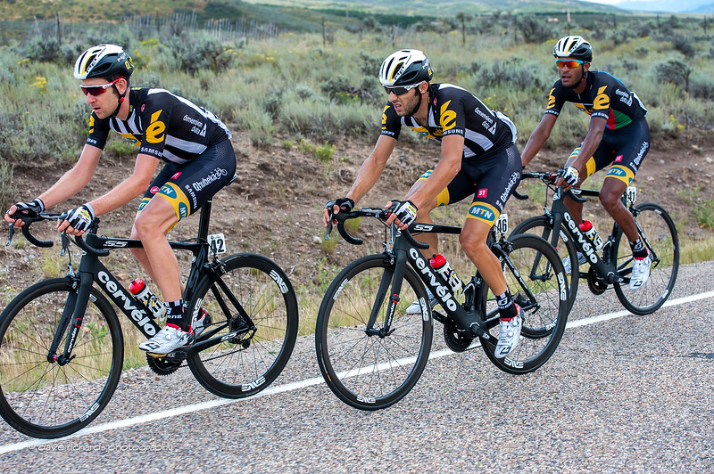 MTN Qhubeka riders in formation, Stage 6 2015 Tour of Utah