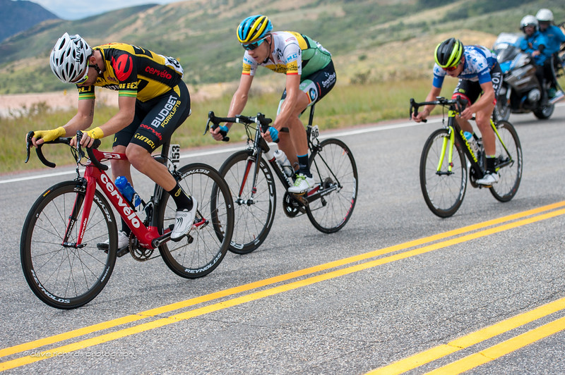 breakaway descends down from Little Mountain KOM, Stage 6 2015 Tour of Utah