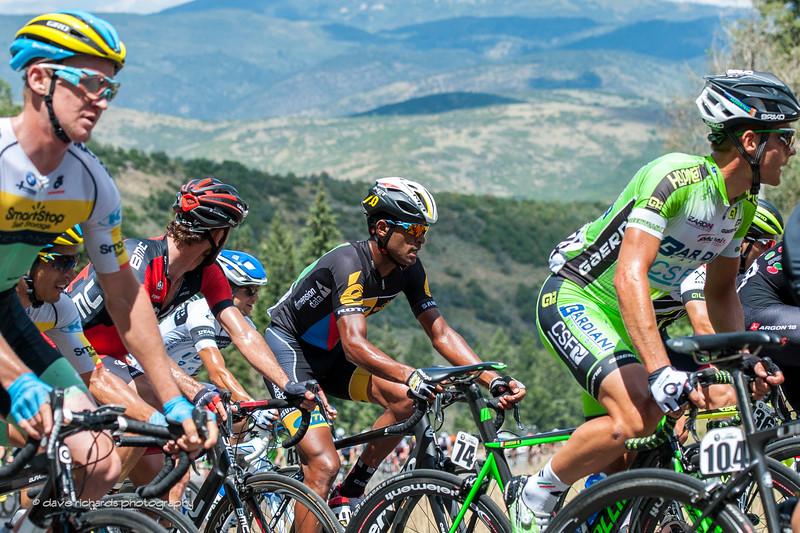 Natnael Berhane (MTN Qhubeka) planning his move to go with the winning break on Stage 7 2015 Tour of Utahdaverphoto.com