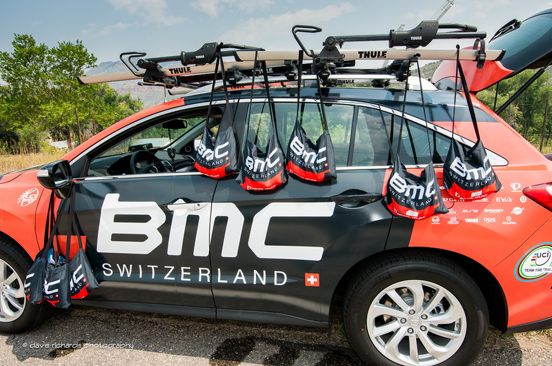 BMC musetttes are ready for the riders at the feed zone in Masonville during Stage 6 2015 USA Pro Challenge