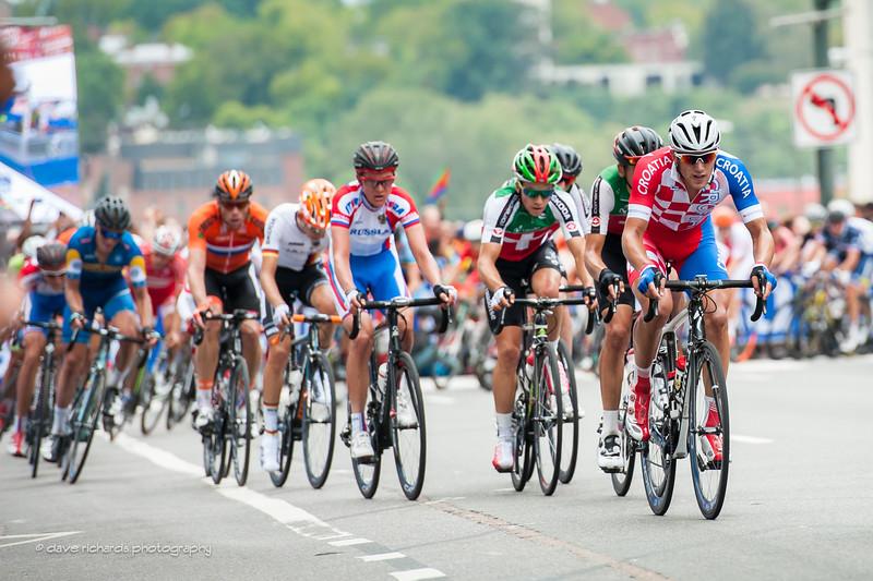 U23 Men's Road Race along Broad Steet in downtown Richmond, 2015 UCI World Championships