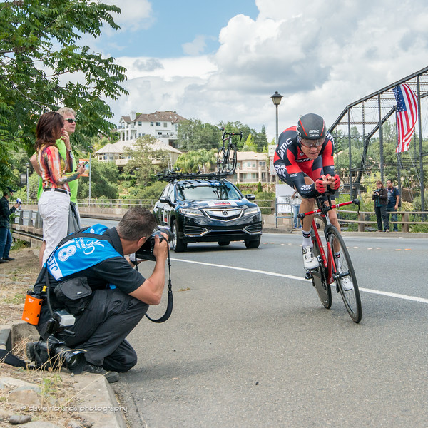 photographer Darrell Parks hard at work during the Stage 6 Time Trial in Folsom, 2016 Amgen Tour of California