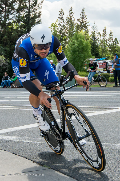 Tom Boonen (Etixx-Quick Step) hammering the Folsom time trial, Stage 6, 2016 Amgen Tour of California