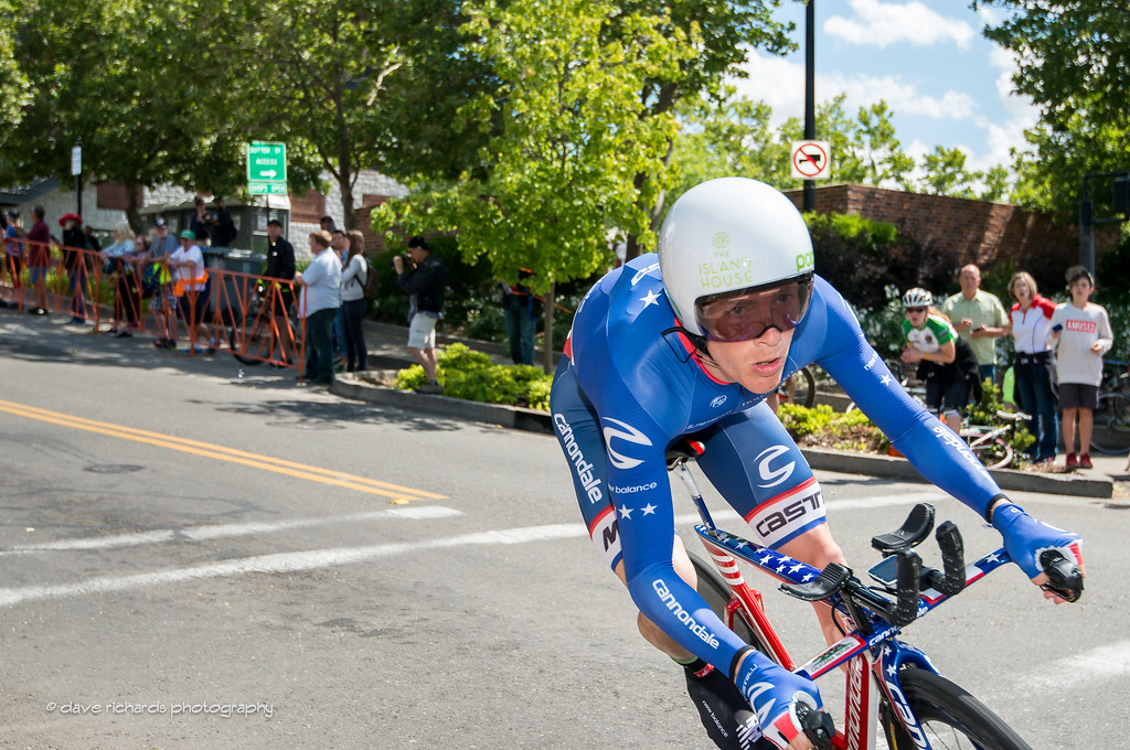 Andrew Talansky (Cannondale) exits the frame on a fast descent of the Stage 6 Time Trial in Folsom, 2016 Amgen Tour of California