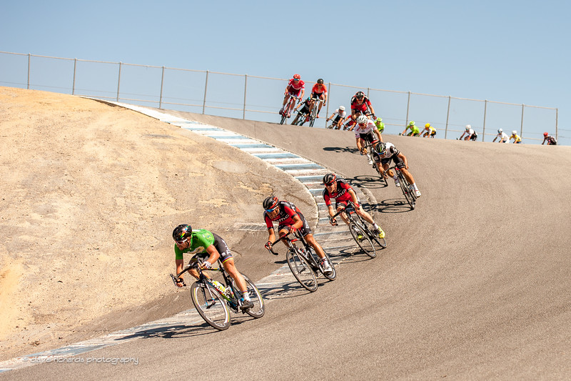"Peter Sagan (Tinkoff) leads the charge down the famous ""Corkscrew"" turn on the Laguna Seca racetrack, Stage 4, 2016 Amgen Tour of California"