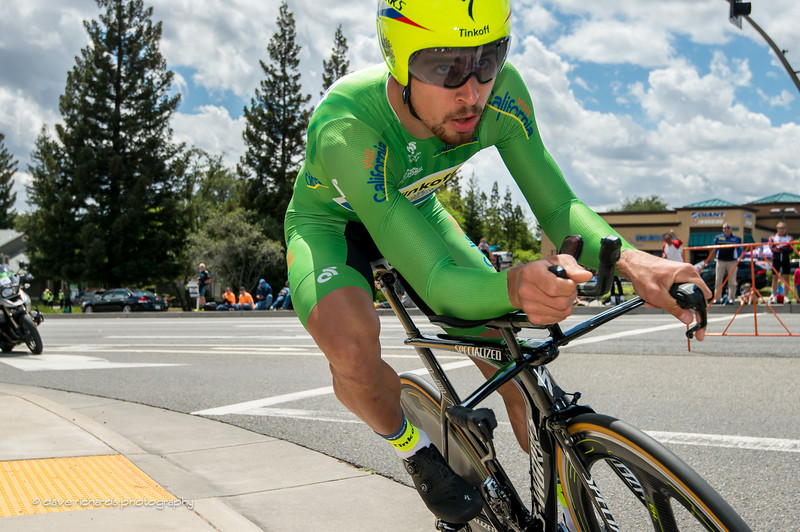 Peter Sagan (Tinkoff) drillin' a turn in the Stage 6 Time Trial in Folsom, 2016 Amgen Tour of California