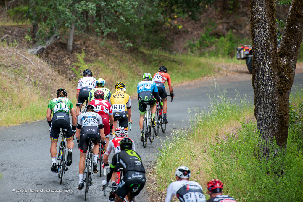 Breakaway on the climb to KOM #2, Stage 7, 2016 Amgen Tour of California