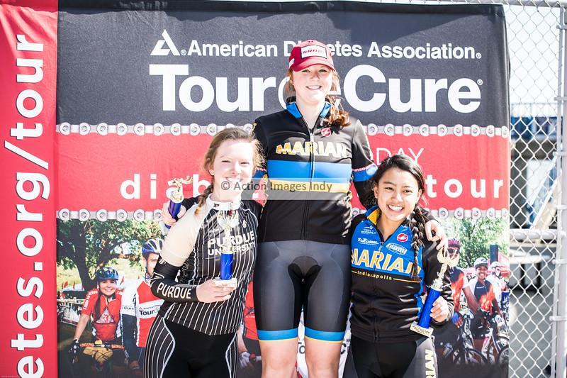 Collegiate Women's B/C podium    2016 Marian-TDC 8710