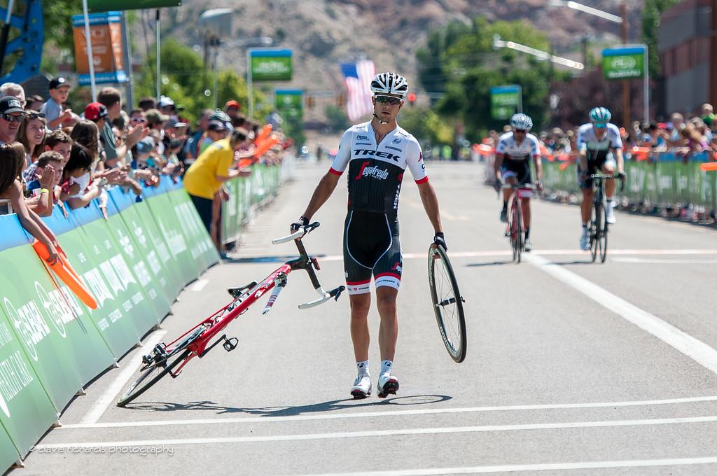 Rough day at the races for Kiel Reijnen (Trek Segasfredo) Stage 1, 2016 Tour of Utah