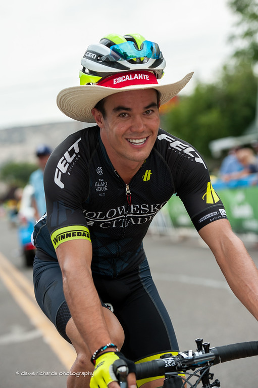 Travis McCabe (Holowesko/Citadel Hincapie) is styling in his new Escalante, Utah cowboy hat, Stage 2 2016 Tour of Utah