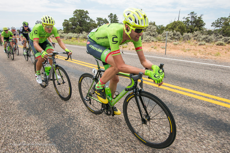 Phil Gaimon (Cannondale Drapac) chillaxin' as he leads his teammates on Teasdale Road on the final circuit of Stage 2, 2016 Tour of Utah