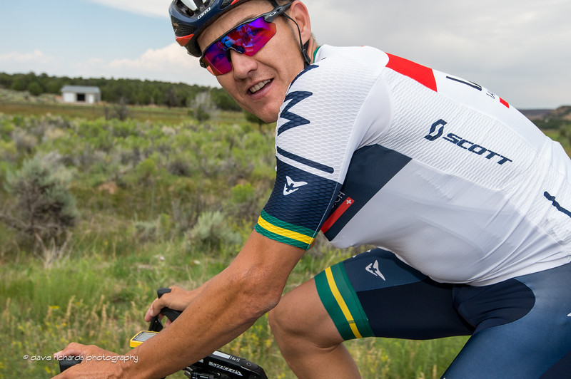 i found this friendly guy out on the road, Heinrich Haussler (IAM Cycling), Stage 2, 2016 Tour of Utah